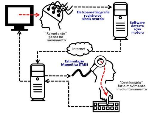 Pesquisador controla movimento de colega através do pensamento